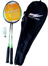 BROTHER Sada badmintonové pálky + košíček