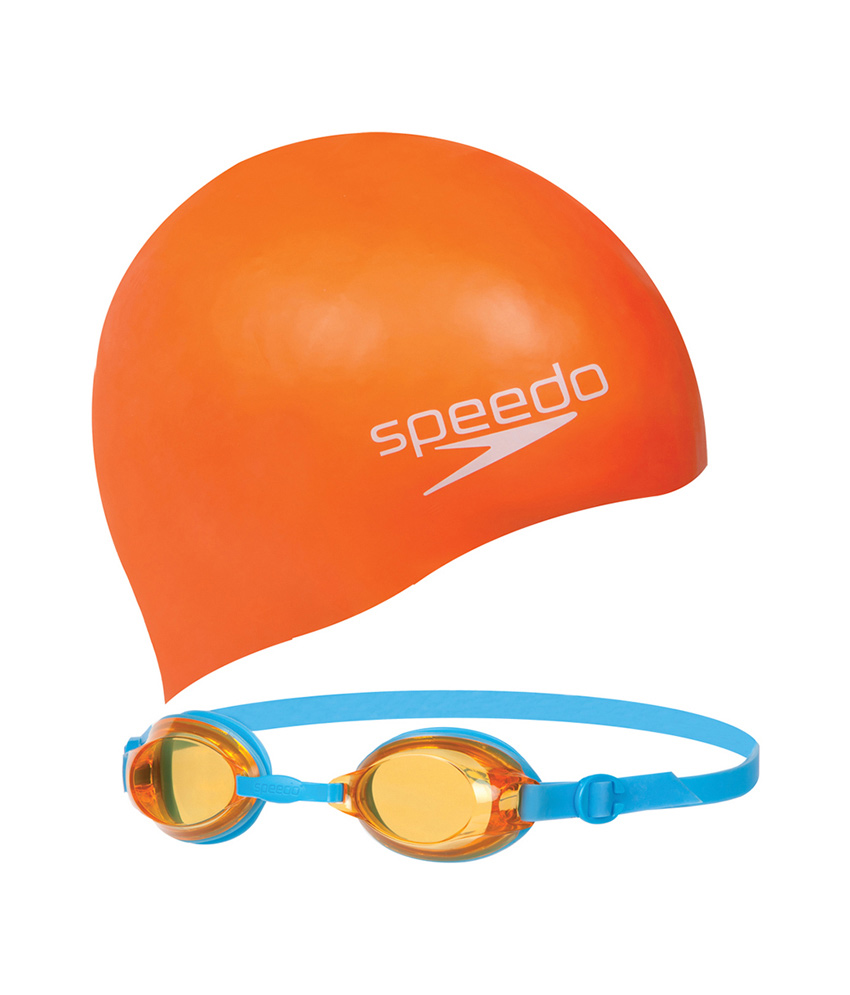 SPEEDO JUNIOR set brýle+čepice  14 let