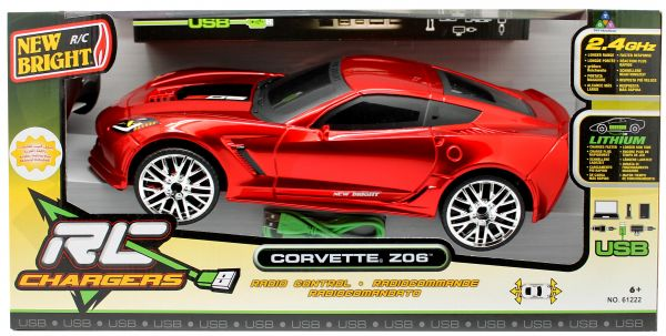New Bright 61222 R/C Chargers Corvette Z06