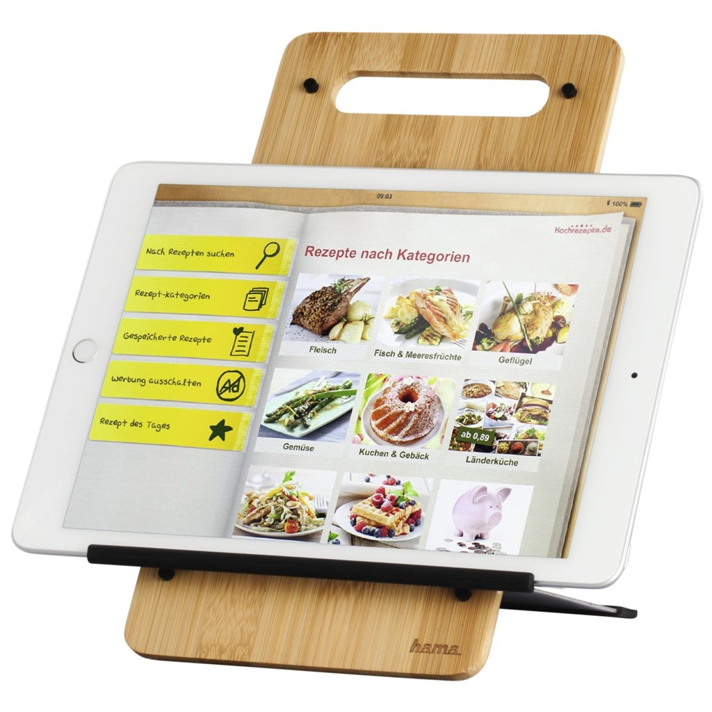 "Hama Timber stojan na tablet, 7""-10,5"" kov/ bambus"