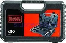 BLACK and DECKER A7219 80dílná sada vrtáků a bitů